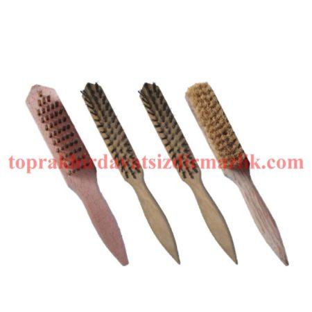 tahta saplı paslanmaz telli el fırçaları çelik